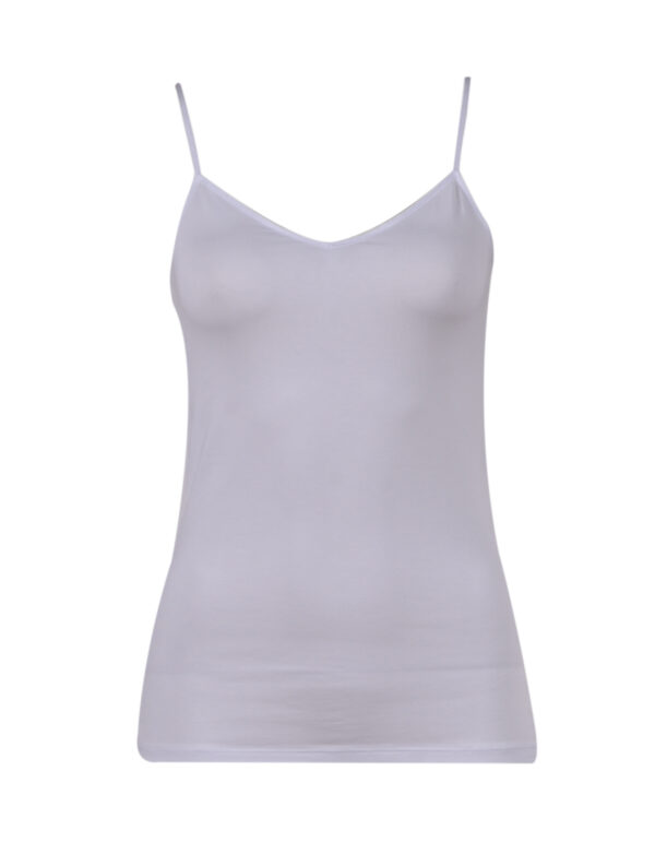 Dames top - single pack, Basis, wit.