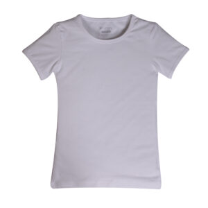 Meisjes t-shirt KM, Basis, wit.